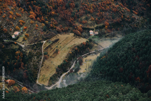 aerial view of a mountain landscape