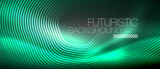 Neon glowing lines, magic energy space light concept, abstract background wallpaper design - 236993845