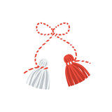 Vector martisor talisman, traditional accessory for holiday of early spring in Romania and Moldova. - 236995886