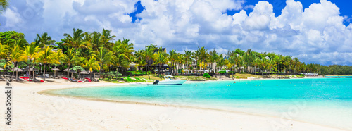 Tropical holidays - amazing Mauritius island.  Bel mare beach - 236999016