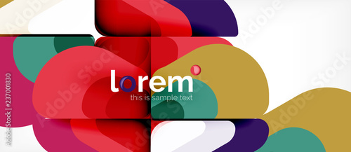 Abstract background multicolored geometric shapes modern design - 237001830