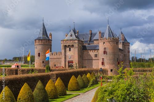 Leinwanddruck Bild Muiderslot castle near Amsterdam - Netherlands