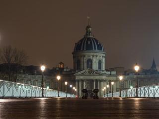River Seine with Pont des Arts and Institut de France in Paris France © Netfalls