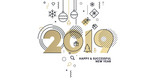 Business Happy New Year 2019 greeting card. Vector illustration concept for background, greeting card, website and mobile website banner, party invitation card, social media banner, marketing material - 237023289