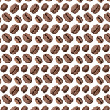 Coffee beans background, Isolated on white. Food concept.. Coffee beans pattern.