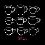 Set of cute teacups