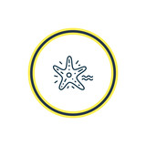 Vector illustration of starfish icon line. Beautiful nautical element also can be used as sea star icon element.