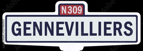 GENNEVILLIERS - Ancien panneau entrée d'agglomération - 237063057