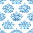 Seamless ethnic pattern with lotus image. Handmade. - 237073665