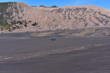 The jeep car is driving at the area of Bromo Mountain Surabaya Indonesia
