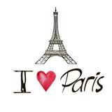 inscription I love Paris