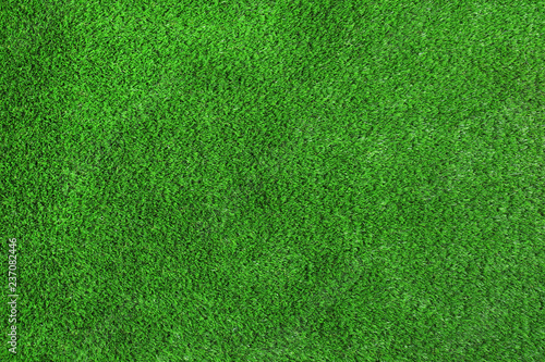 Leinwanddruck Bild Artificial grass carpet as background, top view. Exterior element