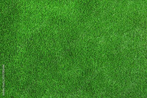 Leinwandbild Motiv Artificial grass carpet as background, top view. Exterior element