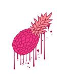 graffiti tropfen farbe spray pink ananas lecker hunger essen obst gesund ernährung diät comic cartoon design clipart