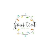 Text Color badge Logo