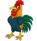 Cartoon rooster posing - 237105202