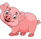 Smiling pig cartoon - 237105248