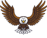 Cartoon eagle mascot - 237105266