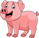 Cartoon happy pig - 237105807