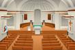 Interior of a Church Illustration - 237112457