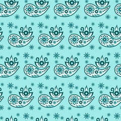 Paisley seamless pattern. Decorative ornament, vector © kpaulina