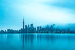 Skyline of Toronto on a cold morning