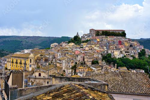 panorama of Ragusa Sicily Italy - 237114488