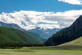 summer mountain landscape with glacier