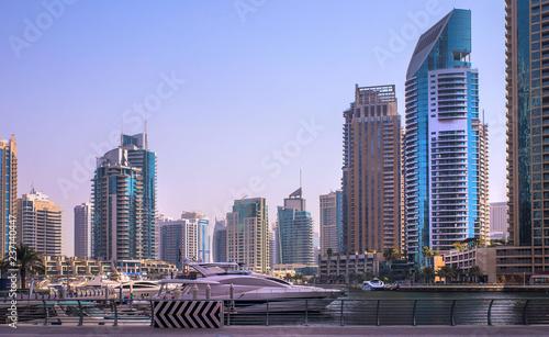 fototapeta na ścianę General view of Dubai Marina. Line of the city skyline.