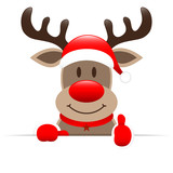 Rudolph Banner Thumb up - 237141423