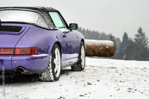 Sportscar detail, winter - 237153889