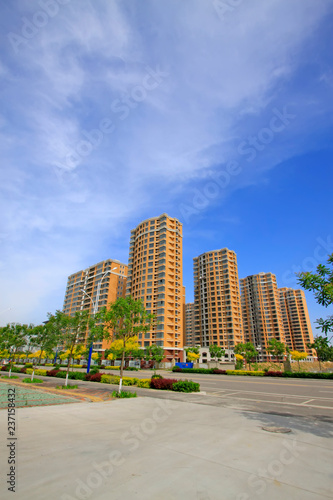 High-rise building under the blue sky - 237158432