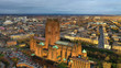 Leinwandbild Motiv Aerial view of Liverpool cathedral built on St James's Mount
