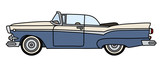 The funny old blue american convertible