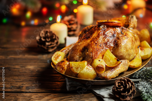 Roasted turkey or chicken - 237175674