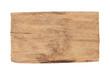Old wood  plank  isolated on white background