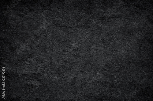 Dark grey black slate background or texture. - 237192676