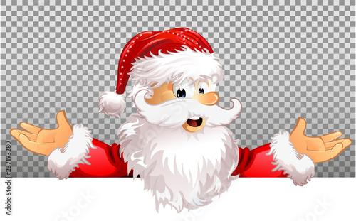 Weihnachtsmann transparenter Hintergrund Schild