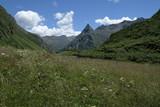 Landschaft am Zeinissee bei Galtür zwischen der Silvretta- und Ferwallgruppe an der Grenze zwischen Tirol und Vorarlberg, Österreich