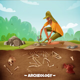 Archeologist Outdoor Expedition Background - 237198407