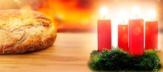 Hausgemachts Brot an Weihnachten