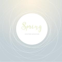 Frühlings Grafik mit Kreisen und hellen Farben