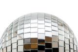 Mirror disco ball isolated on white background