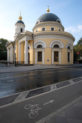 Moscow, Russia - September, 10, 2018: church in Moscow