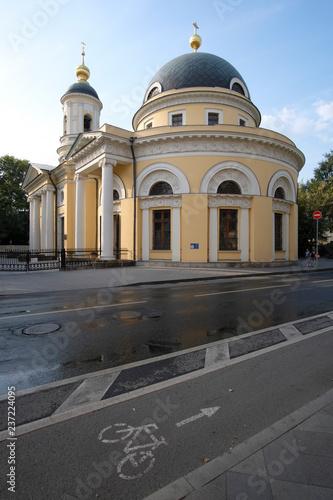 Moskwa, Rosja - 10 września 2018: kościół w Moskwie
