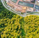 View from the air. Rosa Khutor, Krasnaya Polyana. Sochi, Russia