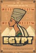 Egypt museum poster with Egyptian queen Nefertiti
