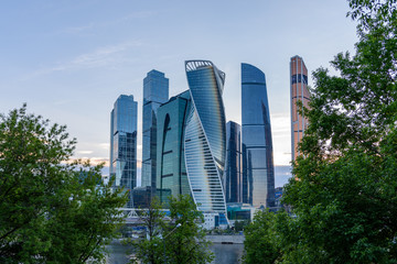Business district in Moscow - Moscow International Business Center