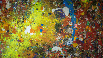 colorfull wild painting closeup