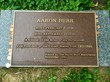 Aaron Burr Grave Marker with Coins